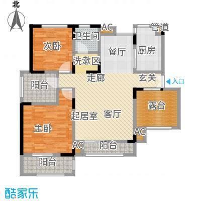 北江锦城100.60㎡花园洋房Ha1-5户型