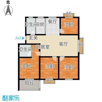 颐园世家137.27㎡二期20-28栋标准层F户型