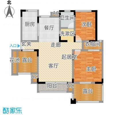 北江锦城104.38㎡一期A区5#、6#1-6层Ha2-5户型