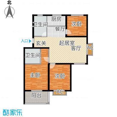 颐园世家108.54㎡二期20-28栋标准层D户型