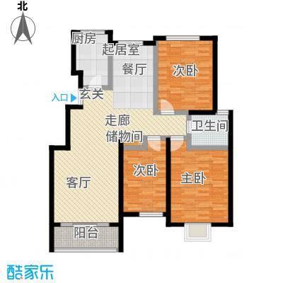 阅城国际花园121.73㎡三期标准层面积12173m户型
