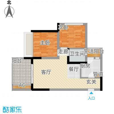 林正橙堡61.83㎡1号楼3号房面积6183m户型