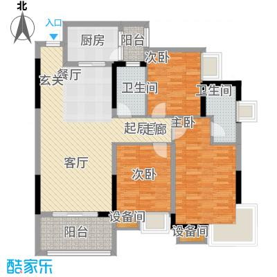 蓝色星空90.78㎡狮子座3号楼4/5面积9078m户型