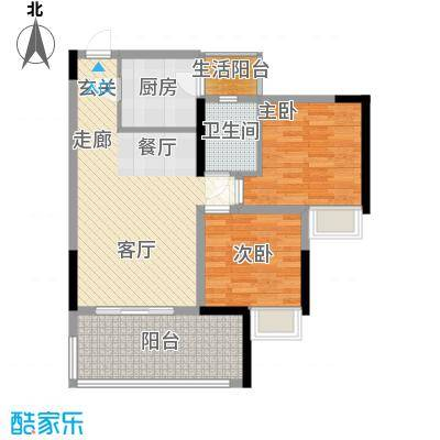 林正橙堡71.16㎡1号楼6号房面积7116m户型