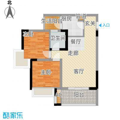 林正橙堡62.82㎡2号楼1号房已售面积6282m户型