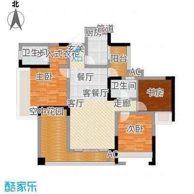 隆鑫花漾四季89.79㎡D2面积8979m户型