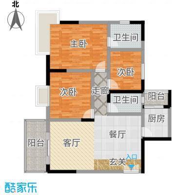 国窖明城104.38㎡A、B栋2面积10438m户型