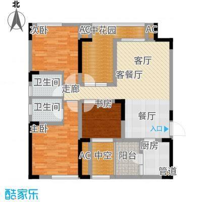 隆鑫花漾四季83.49㎡E2面积8349m户型