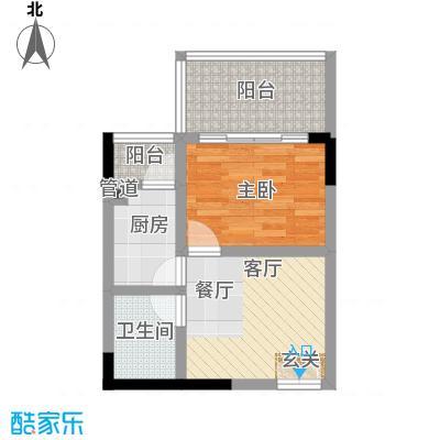 国窖明城38.37㎡A、B栋单间面积3837m户型
