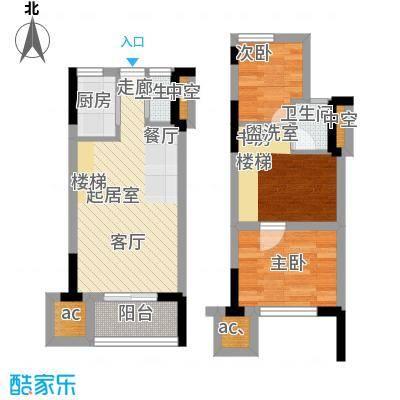 仁恒G53公寓88.00㎡面积8800m户型