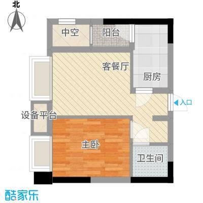 亚美沙发里35.26㎡一期A/B栋标准面积3526m户型