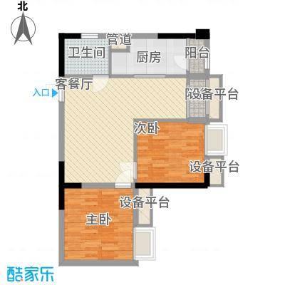 亚美沙发里61.07㎡一期A/B栋标准面积6107m户型