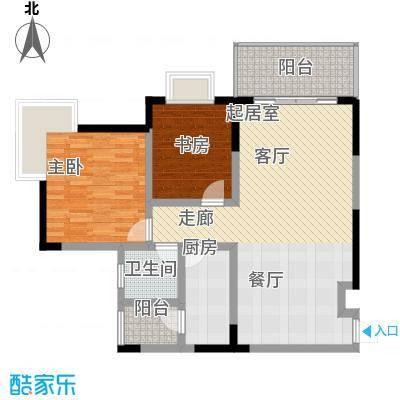 凤天锦园77.10㎡1面积7710m户型