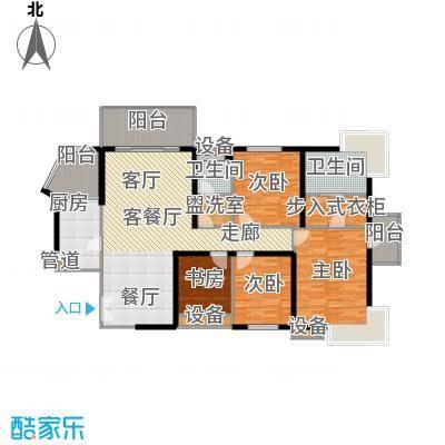 长江之家168.00㎡面积16800m户型
