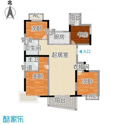 亚东观云国际公寓139.00㎡2号楼标面积13900m户型