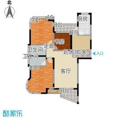 蓝天华门国际花园144.00㎡一期1-3号楼标准层B户型