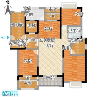 复地新都国际141.50㎡二期9、10、11、13号楼标准层B户型