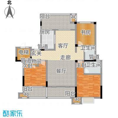 中海国际社区132.00㎡花园洋房标准层A6户型