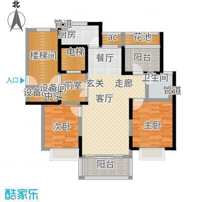 复地新都国际106.00㎡二期9、10、11、13号楼标准层E户型