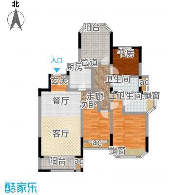 金地湖城艺境118.00㎡一期洋房3幢三层C户型