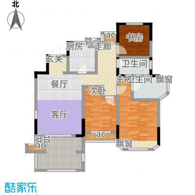 金地湖城艺境113.00㎡一期洋房3幢四层D户型