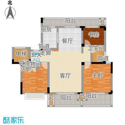 中海国际社区115.00㎡花园洋房标准层A7户型