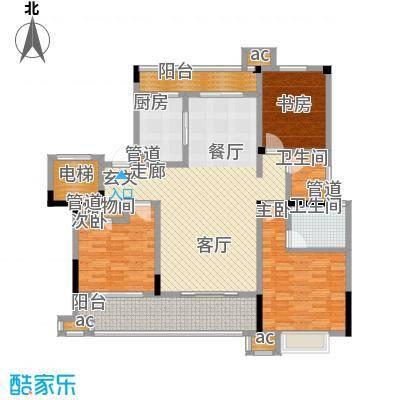 中海国际社区136.00㎡花园洋房标准层A5户型