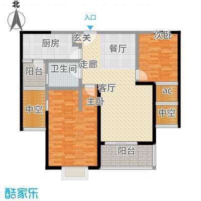 世茂外滩新城110.00㎡二期12号楼标准层D户型