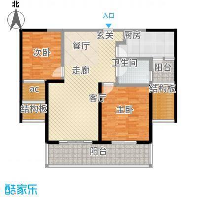 世茂外滩新城110.00㎡二期12号楼标准层D1户型