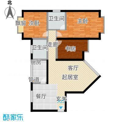 岭秀锦园119.44㎡2面积11944m户型