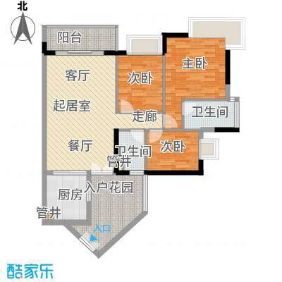 丁香苑91.00㎡面积9100m户型