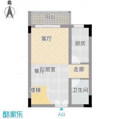 唐庄87.19㎡二、四、六复式底层面积8719m户型