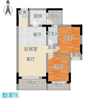 唐庄71.27㎡C-1(2+2)房面积7127m户型