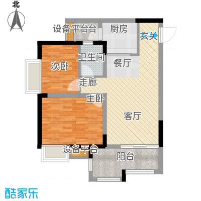 升伟伟清泊客61.87㎡一期1号楼标面积6187m户型