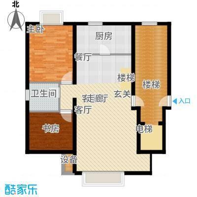 东海福苑B型一层平面布置户型
