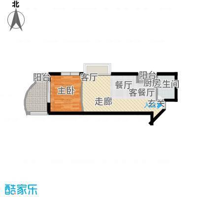 东海福苑47.54㎡面积4754m户型