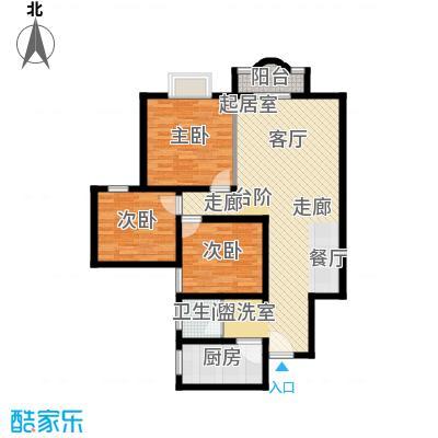 凤天花园94.93㎡2面积9493m户型