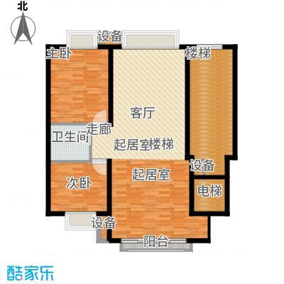 东海福苑C型二层平面布置户型