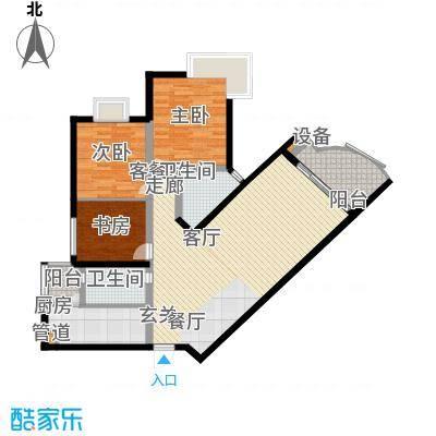 东海福苑97.84㎡D型1面积9784m户型
