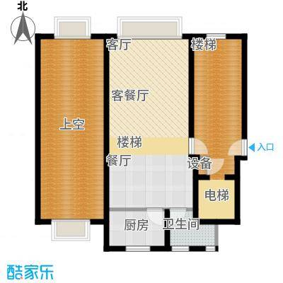 东海福苑C型一层平面布置户型