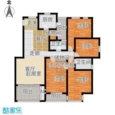 江山多娇滨江花园159.00㎡面积15900m户型
