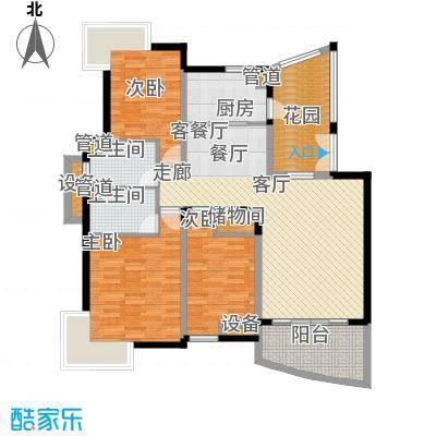 广厦城江畔语林104.04㎡3面积10404m户型