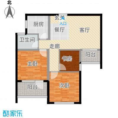 盈嘉香榴湾92.00㎡面积9200m户型