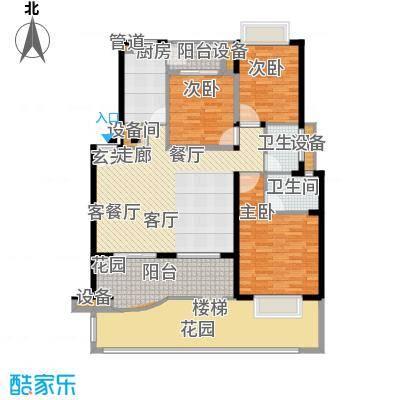 广厦城江畔语林112.67㎡3面积11267m户型