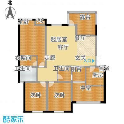 晋愉林畔神韵120.85㎡一期1号楼标面积12085m户型