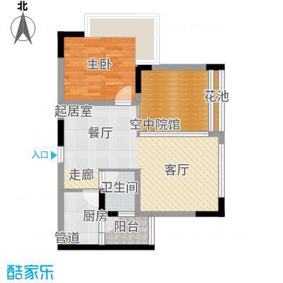 福星颐美名阁54.09㎡4号楼平层0面积5409m户型