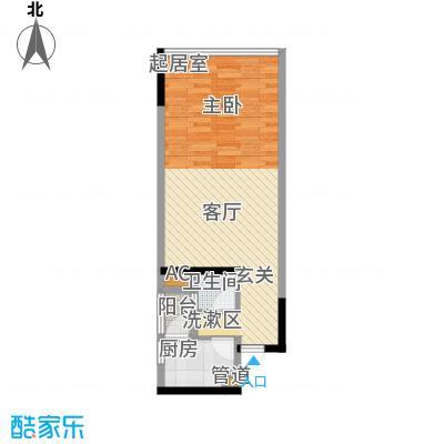 福星颐美名阁40.70㎡3号楼平层0面积4070m户型