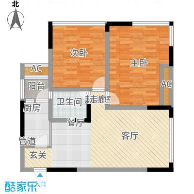 福星颐美名阁62.27㎡3号楼1号房面积6227m户型