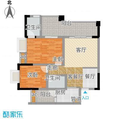 国盛伟岸滨洲74.19㎡2号楼G面积7419m户型