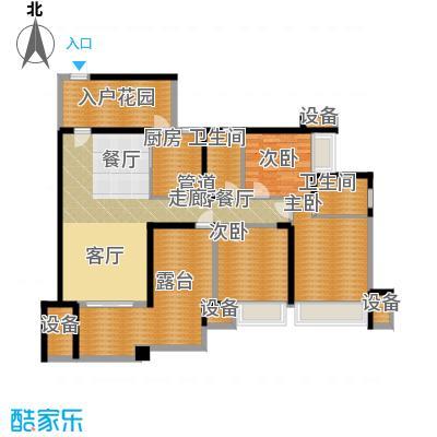 中海北滨华庭110.00㎡一期65号楼面积11000m户型